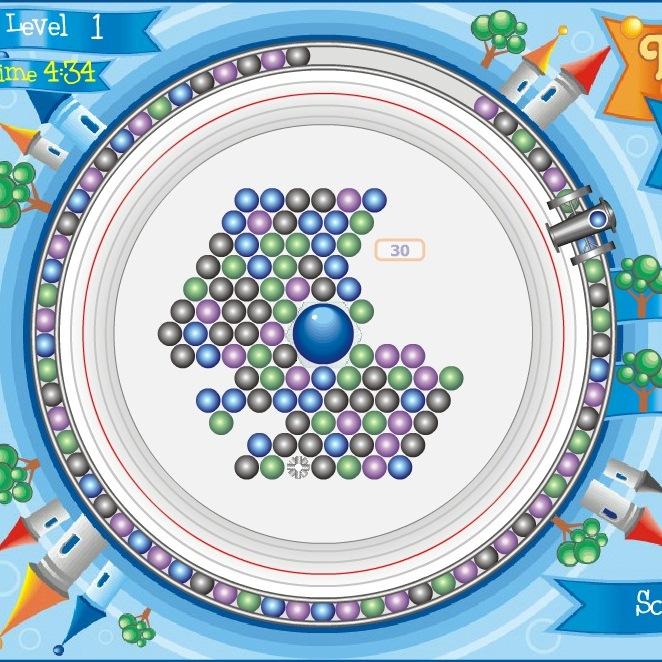 Шарики в замке играть бесплатно онлайн
